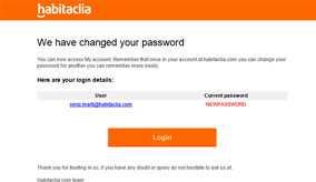 E-mail with your new password