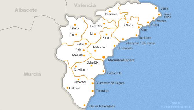 Mapa Provincia De Alicante.36 Anuncios De Negocio De Traspaso En Alicante Habitaclia
