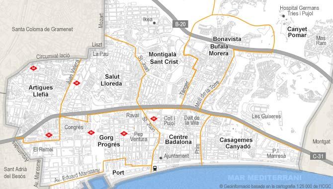 Local comercial de alquiler en badalona habitaclia for Piscina sistrells