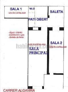 Local Comercial en Carrer algavira,22. Tres �voltes catalanes� de1700 y patio interior