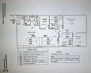 Bureau dans Avenida 305, 5. Oficina con 103 m2 útiles, diáfana y polivalente