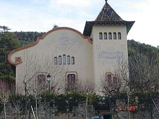 Palacete en Carrer abadessa emma, 17. Finca noucentista